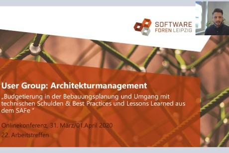 Screenshot Videokonferenz Architekturmanagement