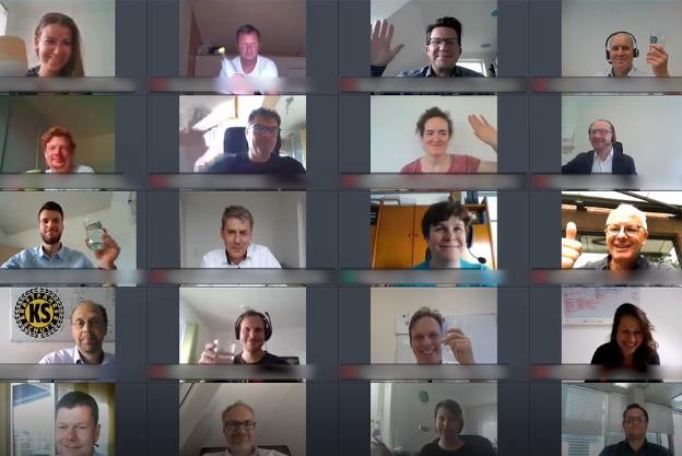 Screenshot Videokonferenz Künstliche Intelligenz und selbstlernende Systeme in der Versicherungswirtschaft