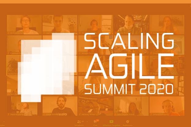 Scaling Agile Summit Logo 2020 mit Zoom Hintergrund