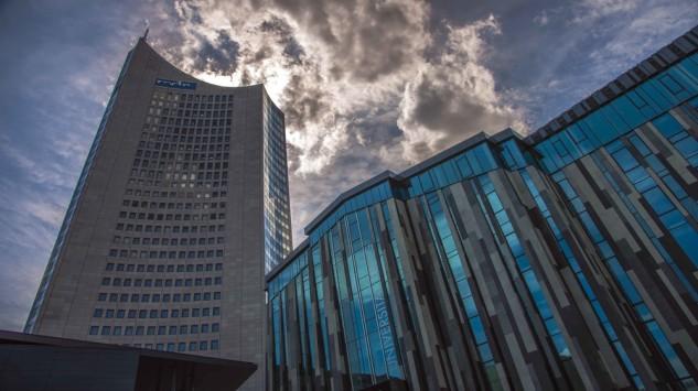 Bild im Text zu Sekt- und Bierempfang auf der Plattform des Panorama Tower Leipzig
